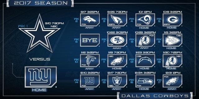 Cowboys schedule